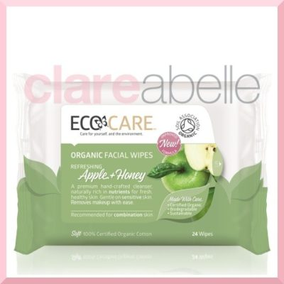 ECOCARE Organic Facial Wipes, Apple + Honey