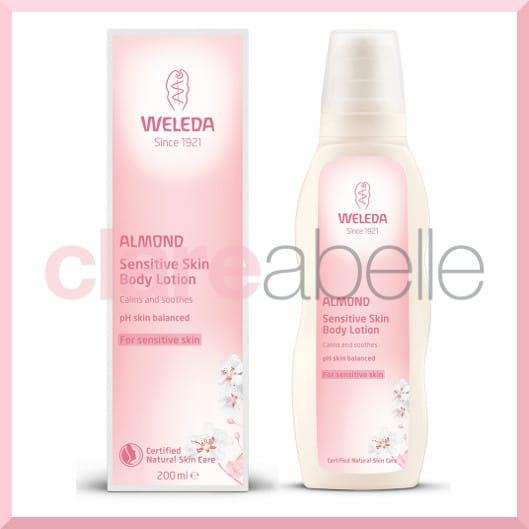 weleda almond sensitive body lotion