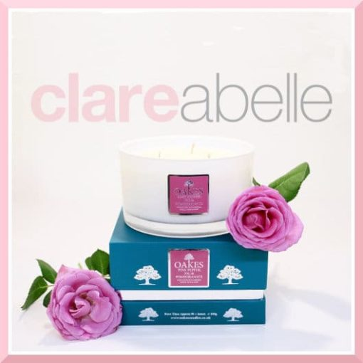 Oakes Candles - Pink Pepper, Fig & Pomegranate Three Wick Candle 500g