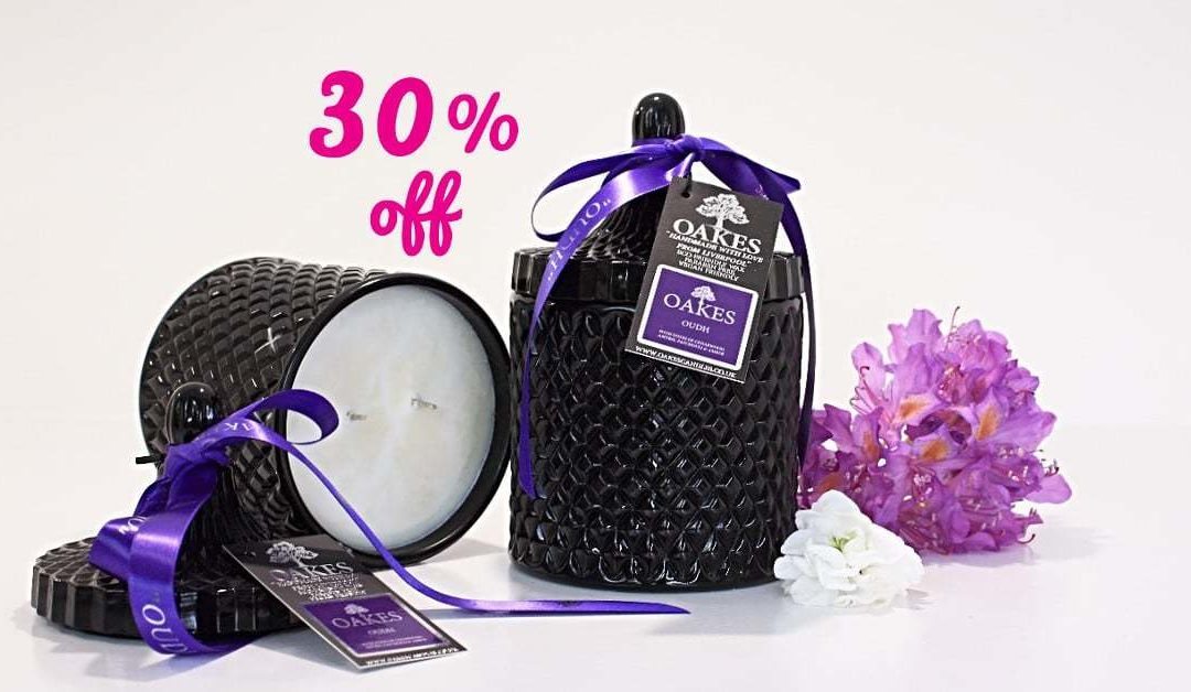 September Sale 30% Off Candles